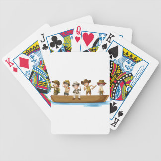 Young explorers bicycle playing cards