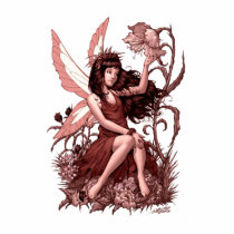 young, fairy, girl, flowers, fae, nymph, sprite, al rio, illustration, art, drawing, Photo Sculpture with custom graphic design