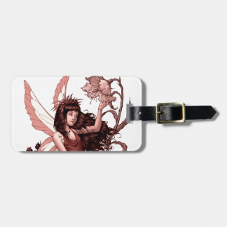 Young Fairy with Flowers by Al Rio Luggage Tag