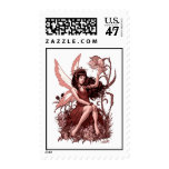 Young Fairy with Flowers by Al Rio Postage Stamp