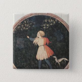 Young falconer, Florentine School Button
