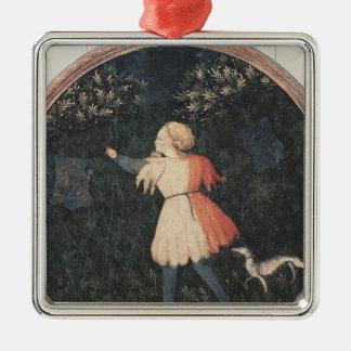 Young falconer, Florentine School Metal Ornament