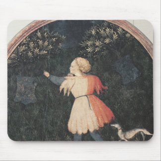 Young falconer, Florentine School Mouse Pad