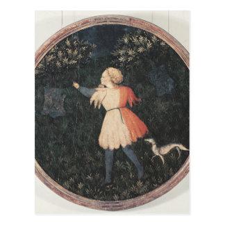 Young falconer, Florentine School Postcard
