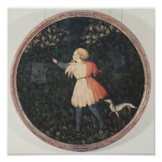 Young falconer, Florentine School Poster