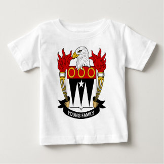 Young Family Coat of Arms Baby T-Shirt