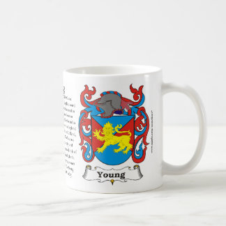 Young Family Coat of Arms Mug