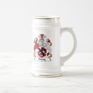 Young Family Crest Beer Stein