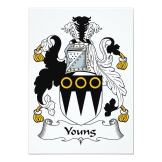 Young Family Crest Card