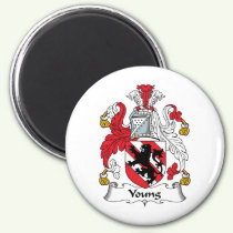 Young Family Crest Magnet