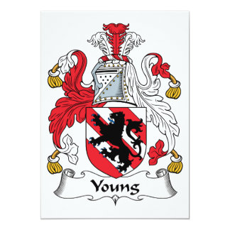 Young Family Crest Personalized Invitation