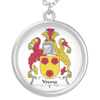 Young Family Crest Silver Plated Necklace