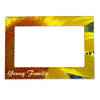 Young Family photo frame Personalize Sunflowers