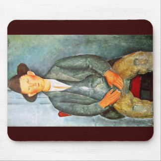 Young Farmer By Modigliani Amedeo Mouse Pads