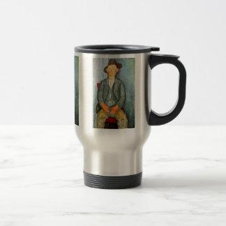 Young Farmer By Modigliani Amedeo Mugs