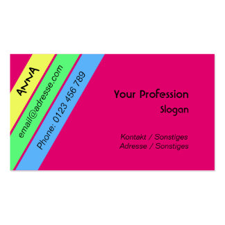 young fashion business card template