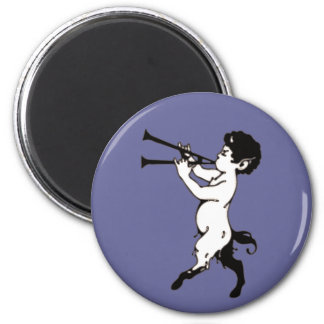 Young Faun With Double Flute Clr 2 Inch Round Magnet