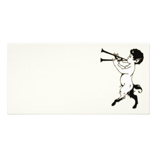 Young Faun With Double Flute Clr Photo Card Template