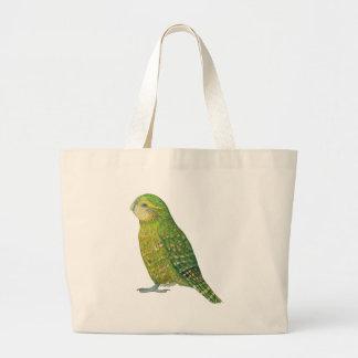 Young Female Kakapo Large Tote Bag