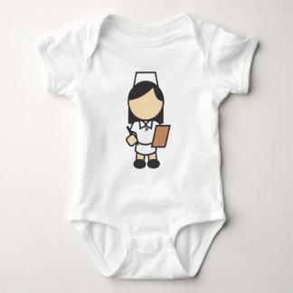 Young Female Nurse Icon Baby Bodysuit