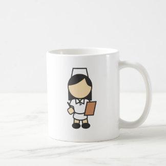 Young Female Nurse Icon Mugs