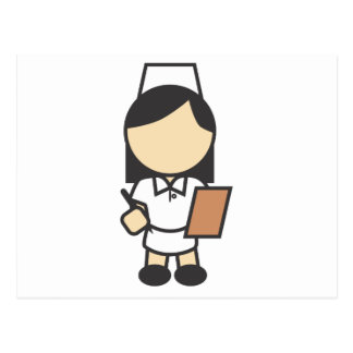 Young Female Nurse Icon Post Card