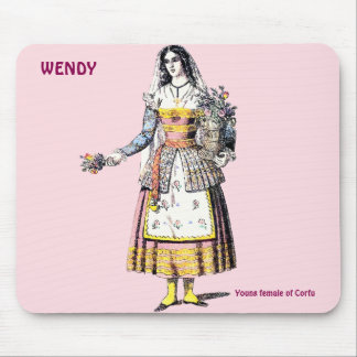 Young Female of CORFU ~Personalised for WENDY ~ Mouse Pad