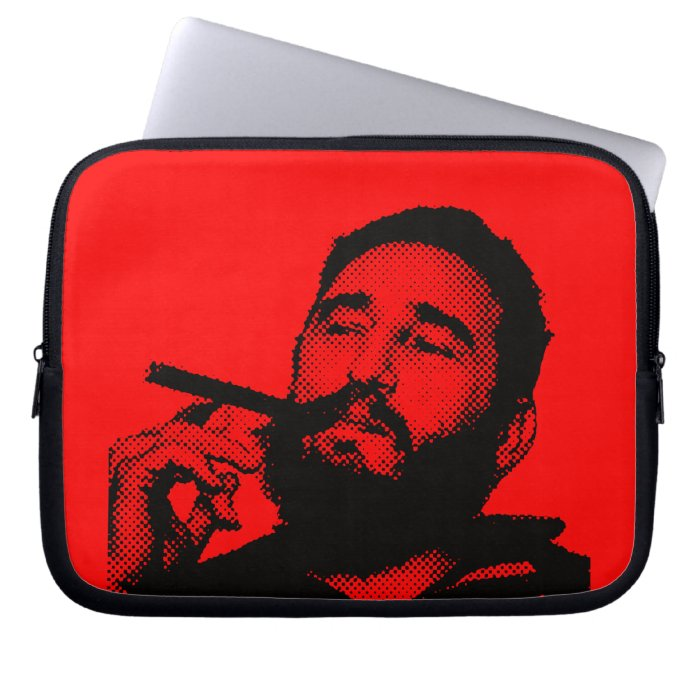 Young Fidel Castro with a cigar Computer Sleeves