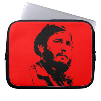 Young Fidel with a dreamy look laptop sleeve