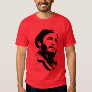 Young Fidel with a dreamy look t-shirt