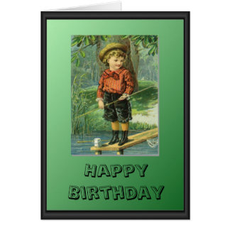 Young fisherman card