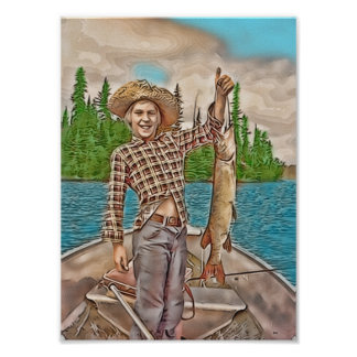 YOUNG FISHERMAN POSTER