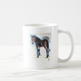 Young Foal Dartmoor Horse Painting Classic White Coffee Mug