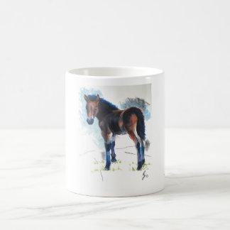 Young Foal Dartmoor Horse Painting Coffee Mug