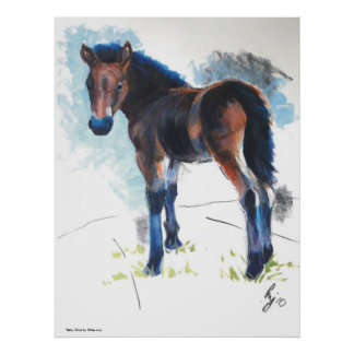 Young Foal Dartmoor Horse Painting Print