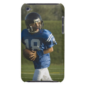 Young football player running with ball barely there iPod cases