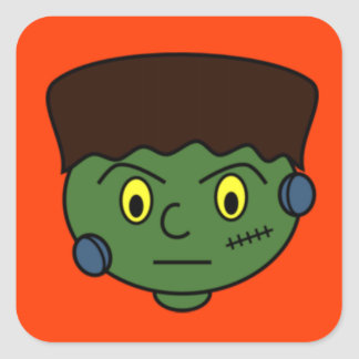 Young Frankenstein Monster Square Sticker