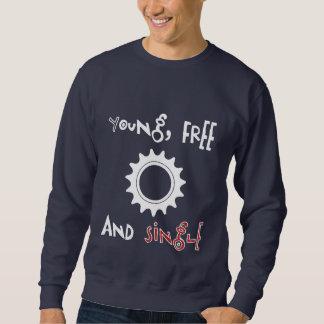 Young Free And Single Fixed Gear Sweat Sweatshirt