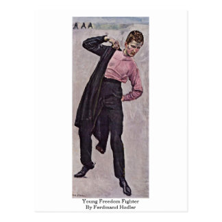 Young Freedom Fighter By Ferdinand Hodler Postcard