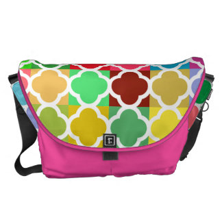 Young Fun and Stylish Colorful Quatrefoil pattern Messenger Bags