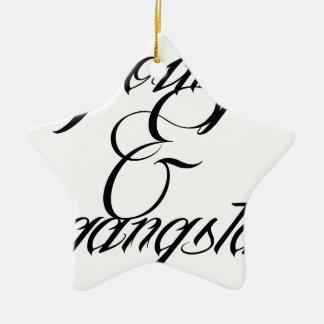 Young & Gangsta Ceramic Ornament