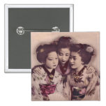 Young Geisha girls Pinback Buttons