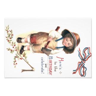 Young George Washington Chopping Down Cherry Tree Photo Print