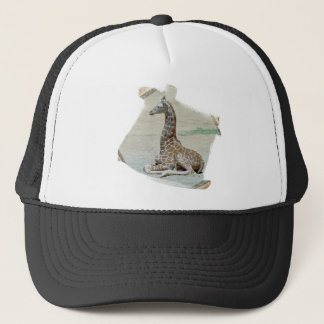Young Giraffe at Rest Hat