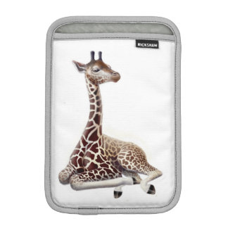 Young Giraffe at Rest iPad Mini Sleeve