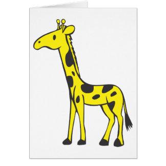Young Giraffe Card