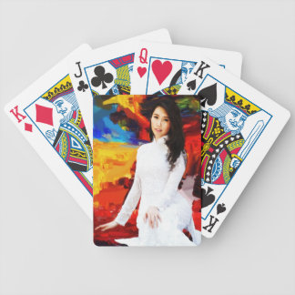 Young Girl   Abstract Painting Bicycle Playing Cards