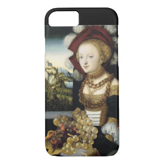 YOUNG GIRL ,ANTIQUE VINEYARD GRAPES AND WINE iPhone 7 CASE