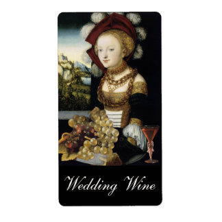 YOUNG GIRL ,ANTIQUE VINEYARD GRAPES WEDDING WINE LABEL