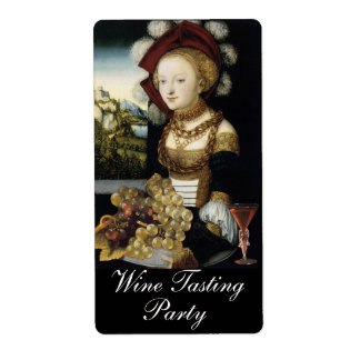 YOUNG GIRL ,ANTIQUE VINEYARD GRAPES WINE TASTING LABEL